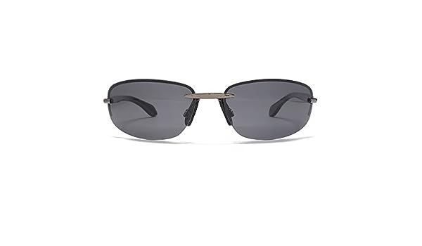 88a1dbd1966 Freedom Polarised Oval Rimless Sunglasses Gunmetal FRG145392  Amazon.co.uk   Clothing
