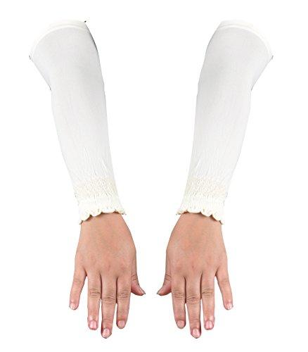 Elegante Armstulpen in verschiedenen Farben - Hijab - Islamische Gebetskleidung (Creme)