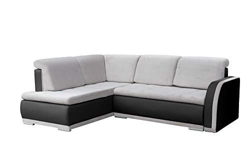 mb-moebel Ecksofa Sofa Eckcouch Couch mit Schlaffunktion und Bettkasten Ottomane L-Form Schlafsofa Bettsofa Polstergarnitur – Vero II