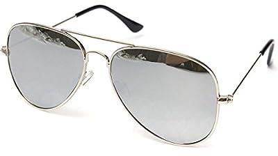 Sheomy UV Protected Non Polarized Aviator Unisex Sunglasses(3IN1-0085 Silver Mercury, Blue Mercury, Green Mercury) - Pack of 3