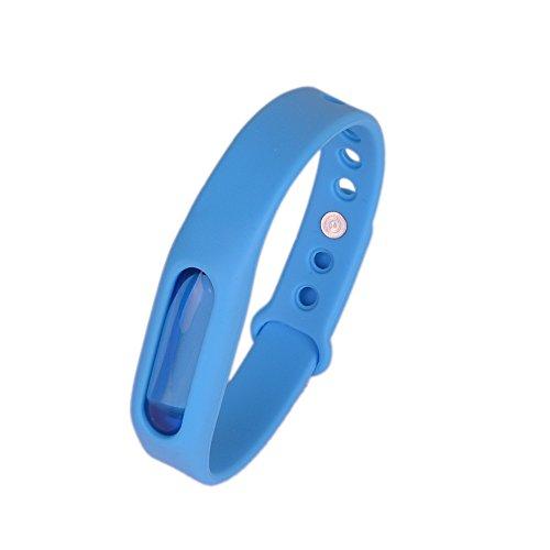 Kroo Mosquito Armband Insektenschutzmittel Armband Schutz und verstellbarer Armband Gurt für Babys Audlt und Haustiere blau
