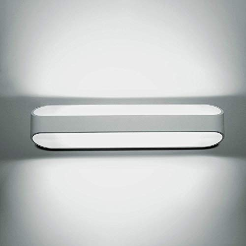 Asvert lampada da parete 5w bianco freddo led applique da parete con stile moderno interni lampada a muro per decorazione in alluminio per soggiorno corridoio bagno le scale luce notturna