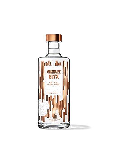 Absolut Elyx, Per Hand destillierter Luxus Wodka aus Schweden, Premiumwodka in edler Flasche, 1 x 1 L