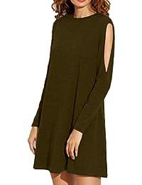Ofliery Vestiti della Maglietta del Vestito da Autunno del Vestito dalla  Spalla Fredda del Mini Vestito 3cbc20365b3