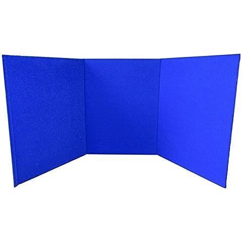 portatile Display Board–Tri-Fold (A3)–Blu–per scuola, ufficio, esposizione e