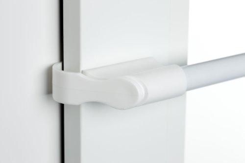 CG-Sonnenschutz Klemmstange weiß Ø 10/12mm 75-125cm für Fenster für Scheibengardinen, Spannvitrage, Vitragestange für Fenster -
