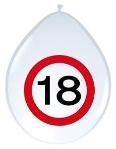 8 globos con señal de tráfico 18.