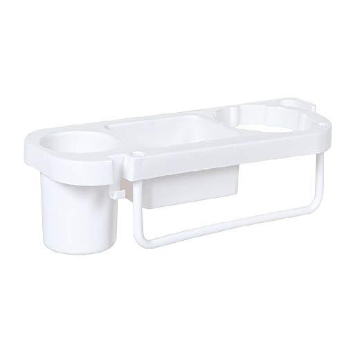 erthome Non Perforated Hairdryer Rack Storage Rack Creative Toilet Cosmetics Towel Towel Badewannenbrett als Wannenregal und Badewannenbutler (Weiß)