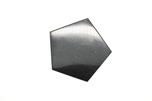 Karelian Heritage Shungite Tile, Decorative Mineral Tile for EMF Protection  (Pentagonal with 8 cm (3 14 inches) side, Polished) SP09
