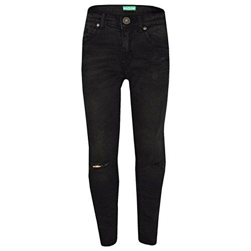 A2z 4 kids® ragazze elastico nero jeans bambini strappato - girls jeans ripped black_7-8