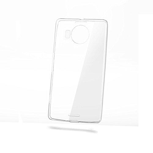 Celly gelskin custodia per nokia lumia 950 xl, gel, trasparente