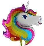 1 x Magisch Regenbogen Einhorn Kopf Folienballon Gestalten 42