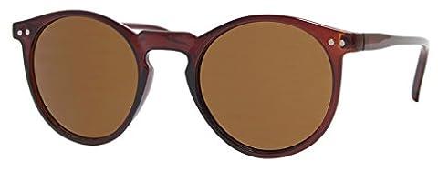 Cheapass Sonnenbrille Braun Rund Retro Unisex