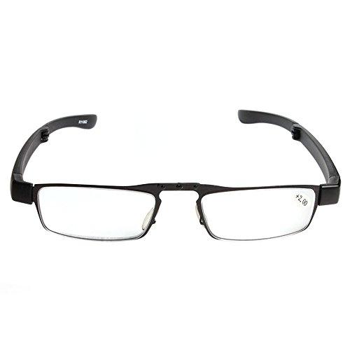 Delmkin Lesebrille Hochwertige faltbare Lesebrille mit Brillenhülle von +1.0 bis +4.0 Dioptrien (+2.0)