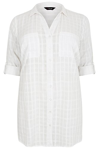 Yours Clothing - Chemisier - Femme Blanc
