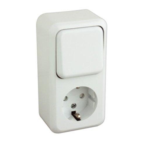 ElectroDH 36470BIB DH Base SCHUKO + Interruptor DE Superficie