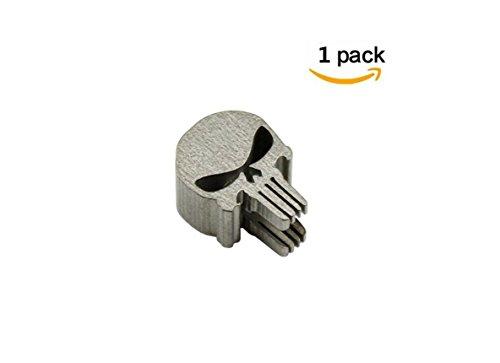 Titan Totenkopf Form Messer Lanyard EDC Reißverschluss Charm Pull Paracord Halskette Bead Anhänger Loch Durchmesser 0,6cm