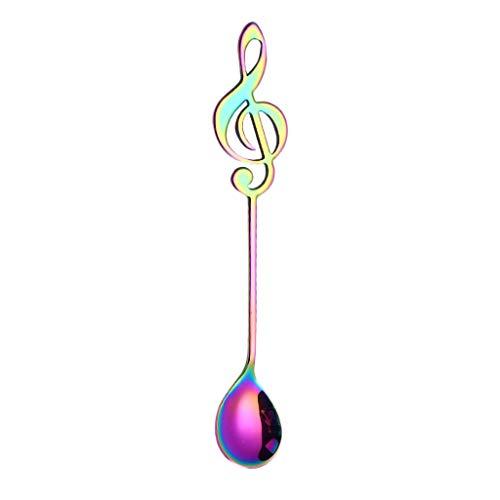 DEESEE(TM) Bunte Löffel mit Griff, Besteck, Eiscreme-Trinkwerkzeug, Küchenhelfer Light 55cm x 72cm mehrfarbig