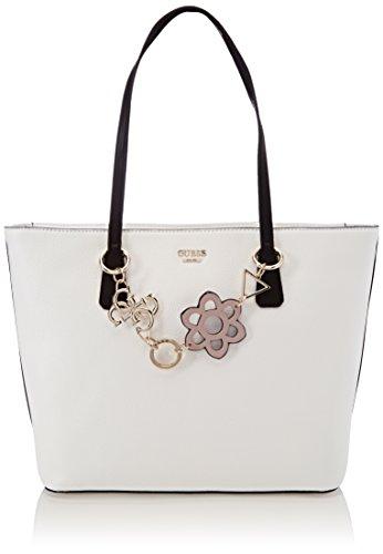 Guess Damen Bags Hobo Schultertasche, Mehrfarbig (White Multi), 13x29x43 centimeters