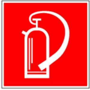 König Werbeanlagen Aufkleber Feuerlöscher gemäß ASR A1.3 / BGV A8 Folie selbstklebend 10 x 10 cm (Brandschutz, Hinweisschild) wetterfest