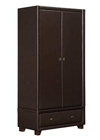 Birlea Brooklyn 2 Door 1 Drawer Wardrobe, Brown by Birlea Furniture