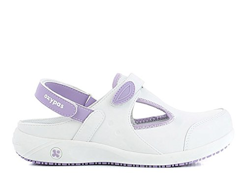 Oxypas Move Carin Slip-resistant, Antistatic Nursing Shoes, White (Lic) , 5.5 UK (EU: 39)