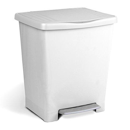 Tatay Millenium - Cubo con Pedal, 23 Litros de Capacidad, Color Blanco
