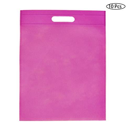 Aisoway Wiederverwendbare Canvas-Baumwollgewebe-Einkaufstasche Frauen Schulter Tote Non-Woven-Umweltfallmultifunktions Organizer (zufällige Farbe) -