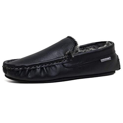 Dunlop DMH7957, Herren Durchgängies Plateau Sandalen mit Keilabsatz, Schwarz - Black. - Größe: 43 EU