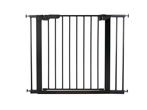 BabyDan Premier, protezioni delle porte / cancello per serraggio, 92,5 - 99,8 cm, - prodotto in Danimarca + approvato TÜV / GS, Colore: nero