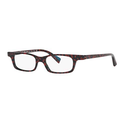 Alain mikli paris occhiali da vista uomo donna jacno ao 3096 005 rosso nero ovali oval rouge memphis cal. 46