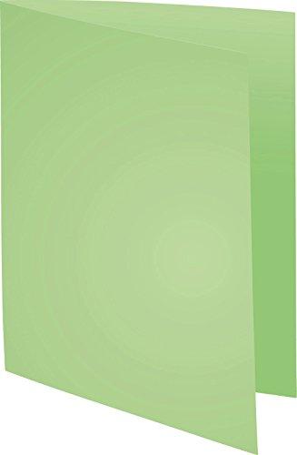 Exacompta 410004E Packung (mit 100 Aktendeckeln Forever, aus Recycling Karton 250 g, DIN A4, 21 x 29,7 cm) giftgrün