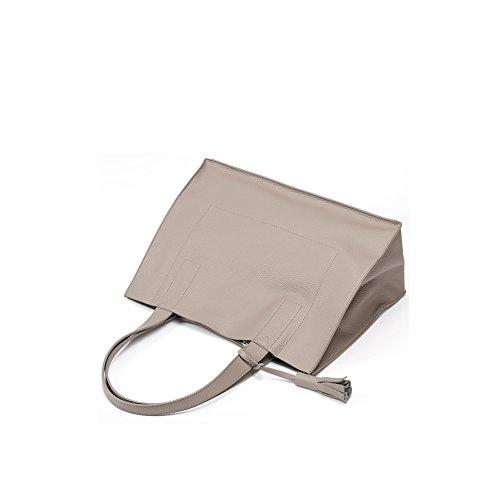 Yvonnelee delle donne di modo del sacchetto di cuoio della borsa spalla dell'unità di elaborazione borsa a tracolla pelle Shopper elegant Borse Albicocca