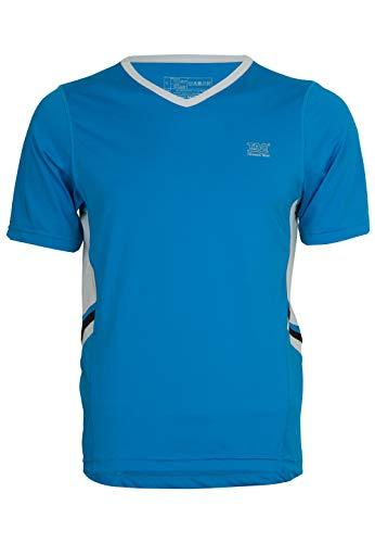 Arctic Blue T-shirt (TAO Sportswear Atmungsaktives Herren Kurzarm Oberteil V-Neck Brilliant Blue/Arctic Ice 48)