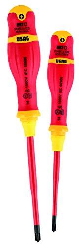 USAG 092 DPHB/SE2 Set mit 2 Slim Schraubendrehern für Kreuzschlitzschrauben U00920122