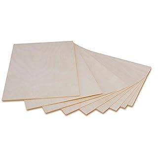 Creative Deco 3 x A3 Holzplatte Sperrholz Laubsäge 3mm | 420 x 300 x 3 mm | Dünne Platten Blatt Birke Holz Spanplatte | Perfekt für Brandmalerei, Laserschnitt, CNC Router, Durchbrochenes