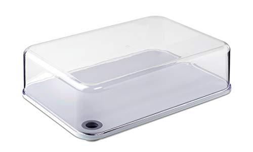 Rosti Mepal 106972042500 Dome Modula, Caja Quesera, transparente, XL (32 x 22.8 x 10.3 cm)