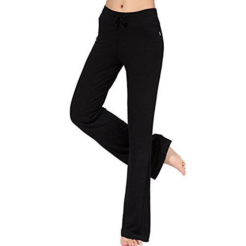 Femme pantalon de Yoga danse du ventre Fitness pants sport Noir Fabricant taille 2XL-EU taille L