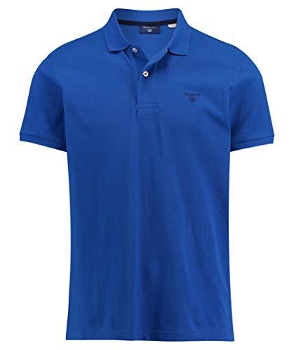 GANT Herren MD. The Summer Pique SS Rugger Poloshirt, Blau (Nautical Blue 422), X-Large (Herstellergröße: XL)