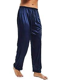 a3298918634 Comradesn Mens Silk Satin Pajamas Pyjamas Pants Lounge Pants Sleep Bottoms  Free P P S M L XL 2XL