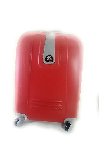 Trolley ormi-lumi idoneo ryanair cm.55x40x20 abs rigido 4 ruote cm.52x37x19 bagaglio a mano (rosso)