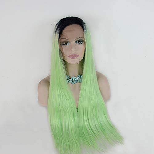 rdraht langes Haar Europa und Amerika 2t Farbe lang gerade Chemiefaser Perücke Kopfbedeckung 10 Zoll ()
