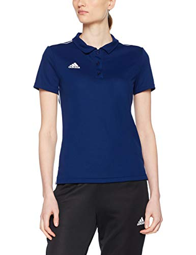 adidas Damen CORE18 W Polo Shirt, Dark Blue/White, M