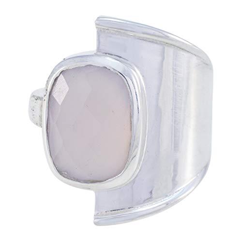 gute Edelsteine Octogon Chekar Rosenquarz Ring - Sterling Silber rosa Rosenquarz guter Edelstein Ring - guter Schmuck gute Verkauf für Unabhängigkeit