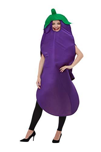 Auberginen Kostüm - Smiffys 50717 Aubergine Kostüm, Unisex, Erwachsene, Lila, Einheitsgröße