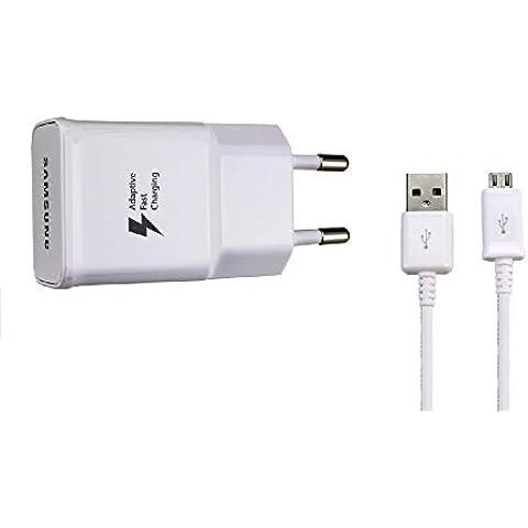 Samsung EP-TA20EWE - Cargador con cable de datos para Samsung Galaxy S6 Edge, color blanco