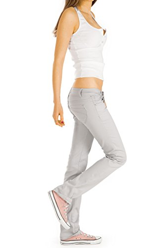 Bestyledberlin femme jean pantalons, straight cut j245p grey foncé