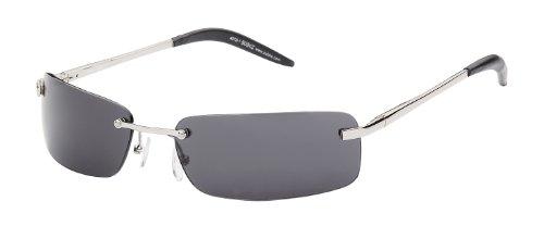Sonnenbrille Evolution mit Metallrahmen Art. 4012-1 Rahmen: silber, Gläser: schwarz
