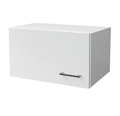 Flex-Well Küchen-Kurzhängeschrank LUCCA | Dunsthängeschrank für Abzugshaube | 1-türig | Breite 60 cm | Weiß