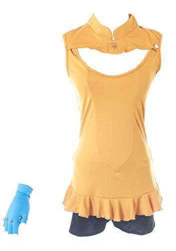 Shorts Kostüm Orange - Kawaii-Story MN-81 Seven 7 Deadly Sins Diane orange Oberteil Shorts Set Fasching Kostüm Manga Anime Cosplay (XL)